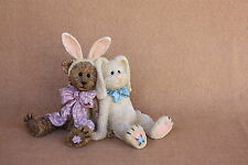 Boyds Bears Easter Resin E B Wannabee and  Petey..Eggcellant Friends NEW RET