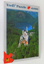 Rompecabezas Castillo Neuschwanstein Alemán Bavaria Schloss 600 Piezas Nuevo Sellado