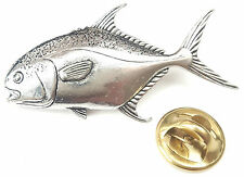 Permit Fish Handcrafted from English Pewter in the UK Lapel Pin Badge