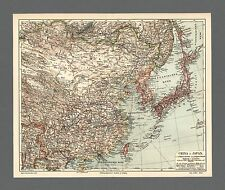 Landkarte China Japan Korea Mongolei Taiwan Shanghai 1906