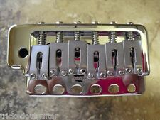 WILKINSON WVP6 SB BRIDGE FOR FENDER STRAT W HEFTY  STEEL BLOCK CHROME W HARDWARE