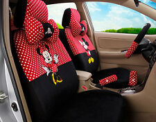18ps 1 set women lovely Mickey Mouse car seat cover plush universal seat covers