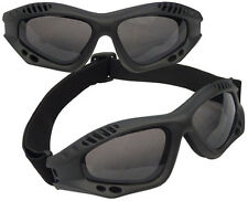 BLACK TACTICAL GOGGLES CE APROVED - ANTI-FOG - UV 400 PROTECTION - SHATTERPROOF