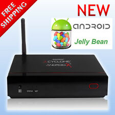 Cyclone Android X2 XBMC Smart TV Box HD Media Player WiFi HDMI ATV1200 DC New