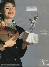 Publicité Advertising  1988  Maroquinerie Christian Dior Sac à main cuir mode