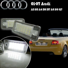 2x Audi A3 A4 B6 A6 Q7 White LED License Number Plate Light Lamp NO Canbus Error