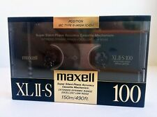 MAXELL XL II-S 100 BLANK AUDIO CASSETTE TAPE NEW RARE 1988 YEAR JAPAN MADE