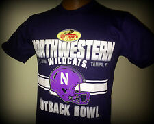 NORTHWESTERN WILDCATS 2016 OUTBACK BOWL TSHIRT HELD IN TAMPA FLORIDA ADULT SMALL