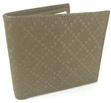 "AUTHENTIC New Gucci Men's Leather ""Margaux"" Diamante Wallet #260987, NWT"