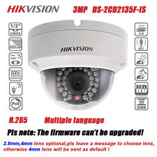 Hikvision DS-2CD2135F-IS POE 3MP IP67 30M IR HD H.265 Network Mini Dome Camera