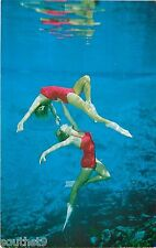 c1950s Weeki Wachi Mermaids Performing Underwater Addagio - Florida Postcard
