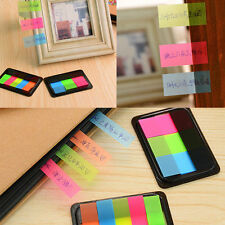 Fluorescen Adhesive Sticky Notes Index Pad Tabs Page Markers Bookmark Memo DIY