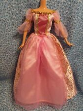 Barbie Sized Pink and Gold Princess Ball Gown - NO DOLL - Minor Damage