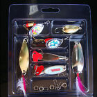 New 7pc Spoon Mixed Lot Fishing Lures Hook Bass Bait Freshwater Tackle 3.5g-12g