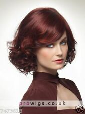 Wigs Fashion Women Sexy Party Short Curly Dark Red Cosplay Synthetic Hair Wig