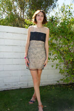 3.1 PHILLIP LIM Leather Sequin Shift Dress 0 XS (as seen on Alexa Chung)