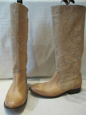 DIESEL STYLE LAB BEIGE SUEDE LEATHER MID HEIGHT PULL ON BOOTS UK 8 EU 41 (180)