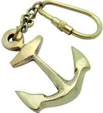Bronze Metal Boat Ship Anchor Sailor Keychain Ring Hanging Chain Sailors Gift 4""