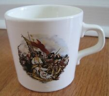 JOHN TRUMBULL BATTLE OF BUNKER HILL MUG  Revolutionary War Scene Made in USA