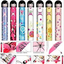 Lovely Cute Doll Hand Bottle Folding Umbrella for UV Protection Random Color