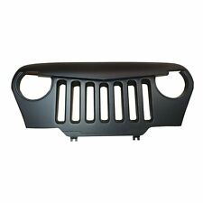 Front Matte Black Angry Bird Grill Grille Grid For Jeep Wrangler TJ 1997-2006