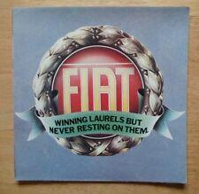FIAT gamme 1980 UK MKT brochure - 126 127 128 X1 / 9 Strada mirafiori 132 ABARTH