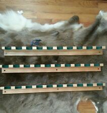 Gun rack 10-gun solid oak  finished. With hardware