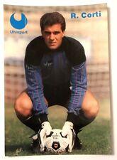 Cartolina Pubblicitaria Uhlsport Guanti Calcio - Roberto Corti Portiere Ascoli