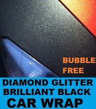 Diamond Brilliant Black Car Wrap 30 x 20cm A4 - Bubble Free Vinyl Glitter Effect