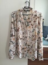 Zara Womens Floral Printed Blouse SIZE MEDIUM BRAND NEW SOLD OUT