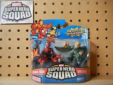 Marvel Super Hero Squad SEALED Wave 15: SPIDER-MAN Hanging Lamppost & VULTURE