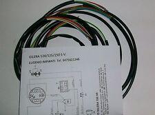IMPIANTO ELETTRICO ELECTRICAL WIRING MOTO GILERA 124/125/150 5VELOCITA'+SCHEMA