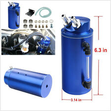 Blue Aluminum Car Engine Cylinder Oil Catch Reservoir Tank Can Breather Tool Kit