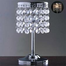"""SILVER METAL 7.5"""" tall Faux Crystal Beaded CANDLE HOLDER Centerpiece Wedding"""