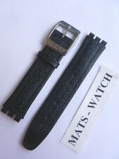 SWATCH+IRONY BIG+BLACK+17mm+LEDER+NEU/NEW