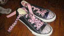 CONVERSE 13 BLACK BLINK PINK SKULL SHOES GIRLS