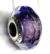 NEW Authentic Pandora 925 ale silver murano glass beads charm purple Shimmer