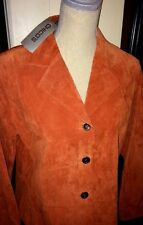 CHICO'S SUEDE JACKET, PALM DESERT LINE, CAYENNE, CHICO'S SIZE 1 (8), NWT