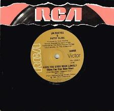 """JIM REEVES & PATSY CLINE - HAVE YOU EVER BEEN LONELY - 7"""" 45 VINYL RECORD - 1981"""