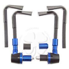 "Blue Lever Guards CNC Plastic Brake Clutch 7/8"" Handlebar Protection Bar End"