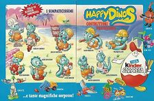 X9471 Kinder Sorpresa - HAPPY DINOS - Ferrero - Pubblicità 1996 - Advertising