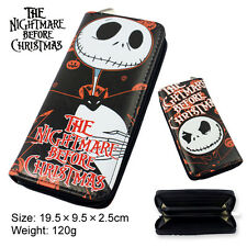 The Nightmare Before Christmas wallet zipper long purse anime billfold Halloween