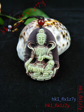 2016 Fashion Natural Jade Bodhisattva Necklace Pendant Hand Carved Lucky Amulet