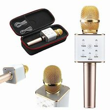 LUXURY Q7 Home KTV Karaoke Microphone Player Bluetooth Speaker For PC Phone Gold