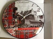 Scottish souvenir wall clock Piper at the castle