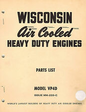 WISCONSIN  HD ENGINE VP4-D  PARTS  MANUAL