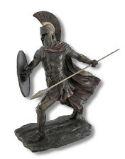 Achilles Rage Bronze Statue with Spear and Shield