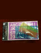 Artbox 4 Piece of Stencil Set Letters Alphabet Craft Number Learning Lettering