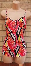 MISS SELFRIDGE SILKY FEEL STRAPPY ORCHID FLORAL YELLOW PINK BLOUSE TUNIC TOP 12