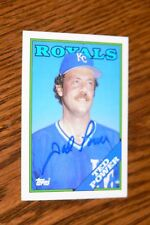 TED POWER SIGNED AUTOGRAPHED 1988 TOPPS TRADED CARD # 89T KANSAS CITY ROYALS
